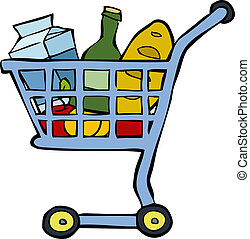Shopping cart on a white background vector illustration
