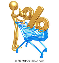 Shopping Cart Percentage - 3D Concept And Presentation ...