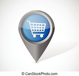 shopping cart pointer illustration