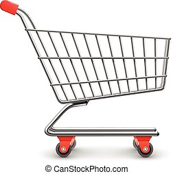 Shopping cart realistic