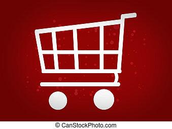 Shopping Cart red