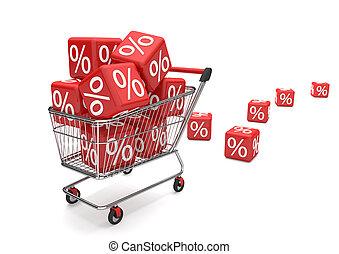 Shopping Cart Sale Cubes