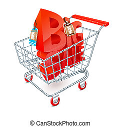 Shopping cart sale emblem