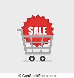 Shopping Cart Sale Sticker