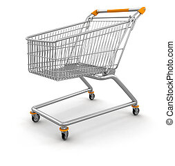 Shopping Cart  - Shopping Cart. Image with clipping path