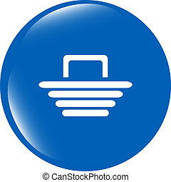 Shopping Cart sign icon. Online buying button
