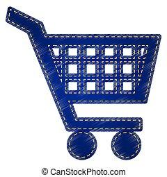 Shopping cart sign