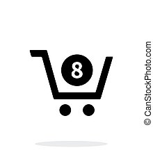 Shopping cart simple icon on white background.