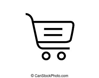 shopping cart symbol vector isolated on white background