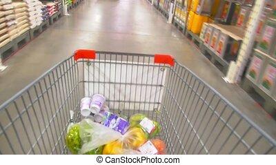 Shopping Cart . Time Lapse