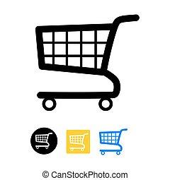 Shopping cart- vector icon