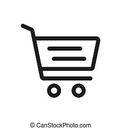 Shopping cart vector icon in modern design style for web site and mobile app