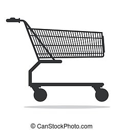 Shopping Cart Vector Icon Isolated on White Background