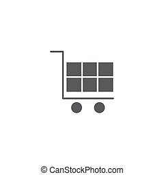 Shopping cart vector icon symbol isolated on white background
