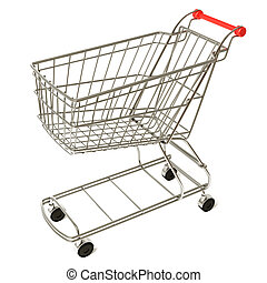 Shopping cart - Very high resolution 3d rendering of an...
