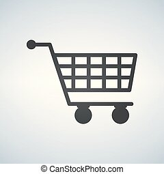 shopping cart virtual ecommerce business symbol