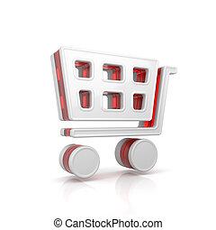 Shopping cart web icon