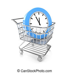 Shopping cart with cloud