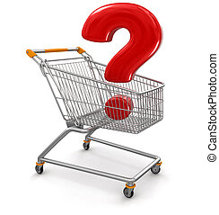 Shopping Cart with Quest. Image with clipping path