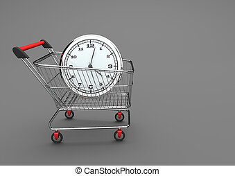 Shopping Cart With Watch