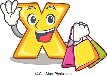 Shopping cartoon multiply of a delete sign