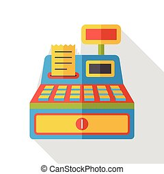 shopping cash register flat icon