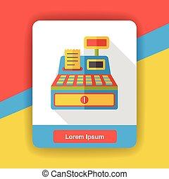 shopping cash register flat icon