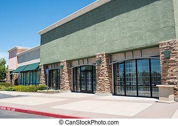 Shopping Center Strip Mall