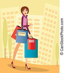 shopping, città