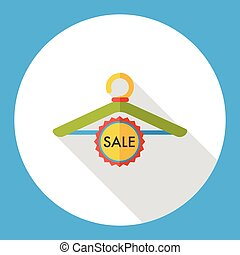 shopping clothes hanger flat icon