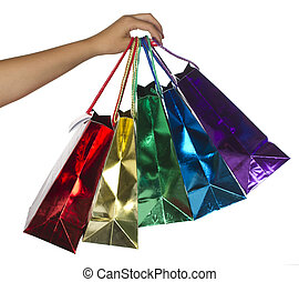 Shopping colorful bags