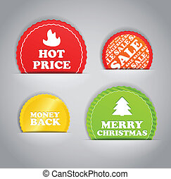 Shopping colorful discount labels