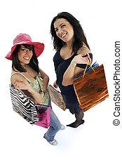 shopping, con, amico