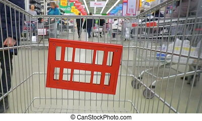 Shopping concept in supermarket for fast consumer lifestyle...