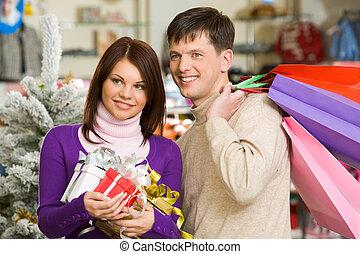 shopping, coppia