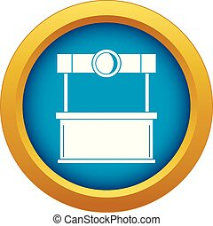 Shopping counter icon blue vector isolated