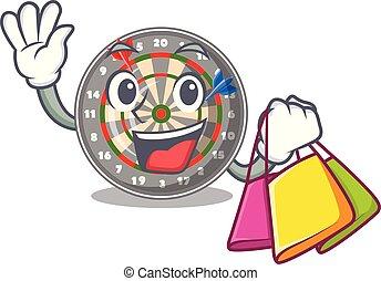 Shopping dartboard in the shape of mascot