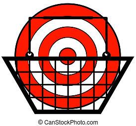 shopping, dentro, vendita dettaglio, bersaglio, -, concetto, cesto