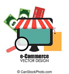 Shopping design, vector illustration. - Shopping design over...