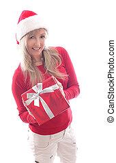 shopping donna, dare regalo, natale, natale