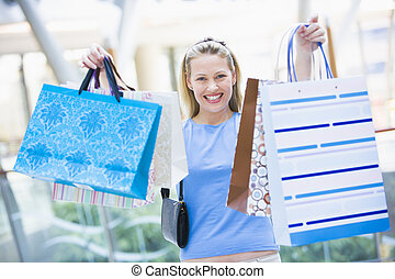 shopping donna, in, centro commerciale