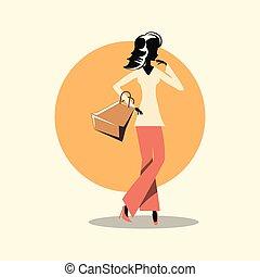 shopping donna, retro