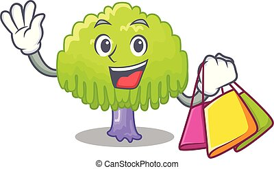 Shopping drawing of willow tree shape cartoon