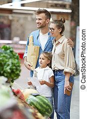 shopping drogheria, famiglia, insieme