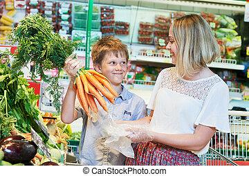 shopping drogheria, famiglia, negozio