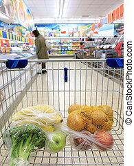 shopping drogheria, supermercato, carrello