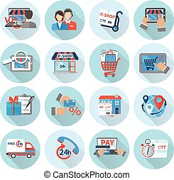 Shopping E-commerce Icon Flat