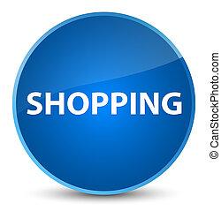 Shopping elegant blue round button