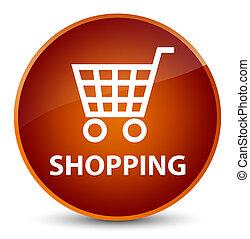 Shopping elegant brown round button