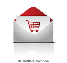 shopping envelope illustration
